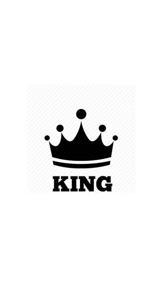 Обои на телефон логотипы, черные, король, белые