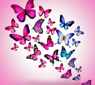 Обои на телефон картина, дизайн, бабочки, арт, art