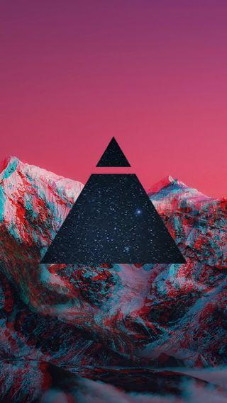 Обои на телефон хипстер, треугольник, звезды, закат, горы, галактика, swag, galaxy
