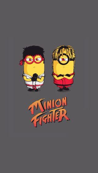 Обои на телефон миньоны, боец, minion fighter
