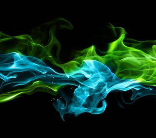 Обои на телефон огонь, синие, пламя, зеленые, абстрактные, hd