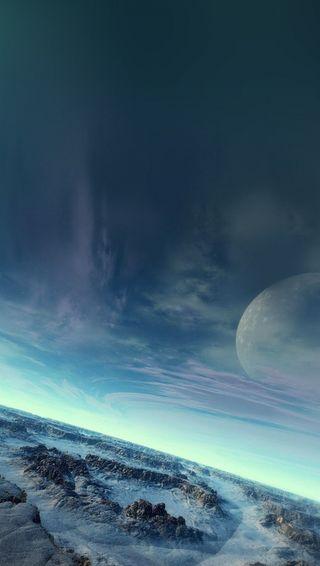 Обои на телефон вселенная, небо, луна, земля