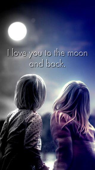 Обои на телефон ты, любовь, луна, высказывания, love you to the moon, love