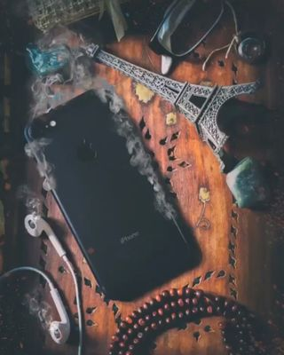 Обои на телефон фотошоп, сигареты, дым, айфон 7, айфон, wallpaperphone, smoked iphone, iphone, earpods, burningiphone, blackiphone