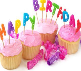 Обои на телефон случаи, свеча, кекс, день рождения, счастливые