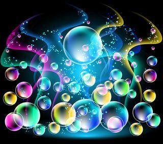 Обои на телефон пузыри, фон, сверкающие, неоновые, круглые, блестящие, абстрактные