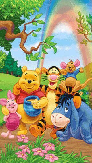 Обои на телефон пух, мультики, животные, винни, the pooh winnie