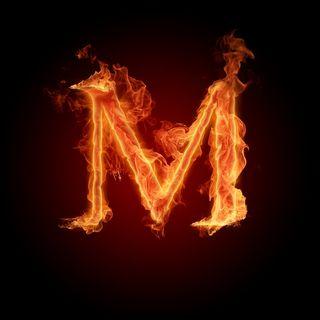 Обои на телефон пламя, letra m para abecedario m, letra m flame
