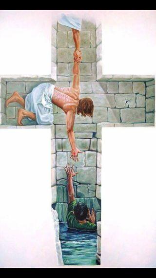 Обои на телефон heaven through jesus, бог, исус, христианские, крест, религия, небеса, религиозные