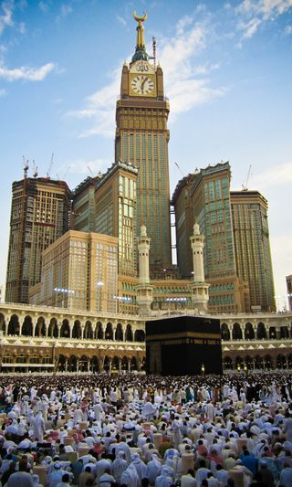 Обои на телефон часы, мекка, ислам, башня, mecca clock tower, kabbah