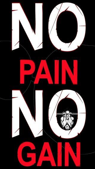 Обои на телефон тренировка, спортзал, боль, no pain, no gain