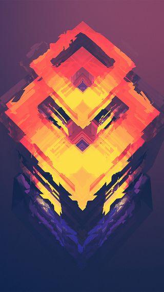Обои на телефон треугольник, оранжевые, огонь, красые, дизайн, высокий, prism fire, high definition, hd