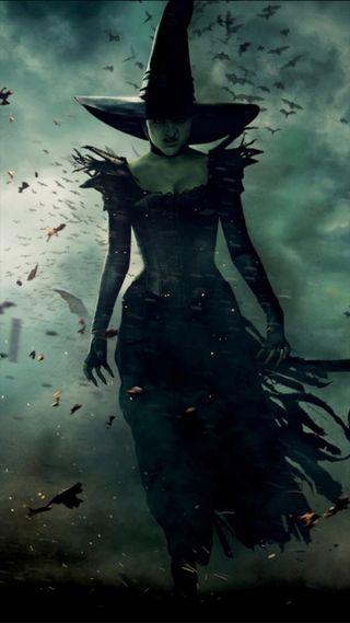 Обои на телефон ведьма, хэллоуин, тыква, небо, oz