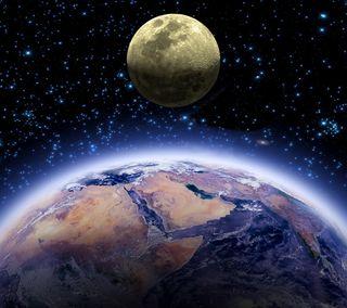 Обои на телефон планеты, космос, земля, звезды