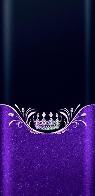 Обои на телефон корона, фиолетовые, симпатичные, сверкающие, золотые, девчачие, блестящие, crowned