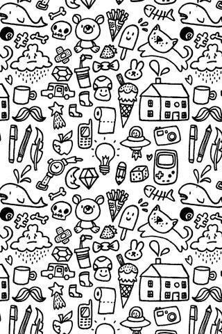 Обои на телефон шаблон, милые, дудлы, абстрактные, doodle pattern