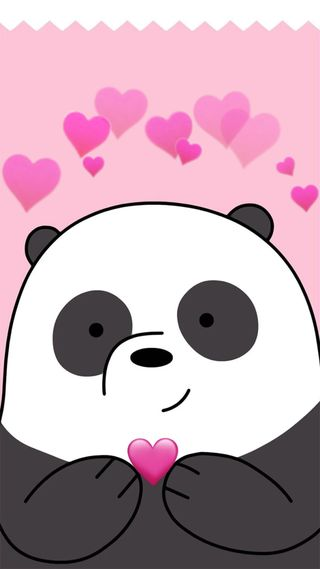 Обои на телефон медведь, панда, медведи, любовь, panda love, bare