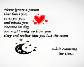 Обои на телефон сон, поговорка, новый, никогда, луна, звезды, never ignore, misses, loves, ignore, cares