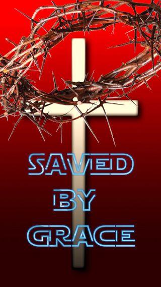 Обои на телефон библия, христианские, saved by grace