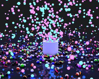 Обои на телефон фейерверк, шары, круги, красочные, абстрактные, explode, 3д, 3d fireworks, 3d