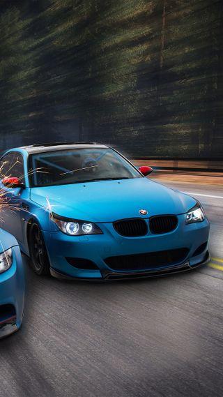 Обои на телефон седан, тюнинг, синие, машины, м5, гонка, бмв, автомобили, авто, e60, bmw