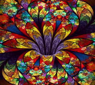 Обои на телефон отлично, цветы, фрактал, линии, красочные, абстрактные, lines abstract, fractal flower