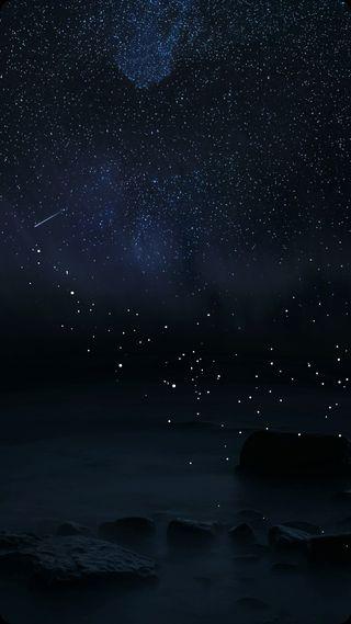 Обои на телефон синие, самсунг, облака, ночь, звезды, галактика, абстрактные, samsung, s8, galaxy s8, galaxy
