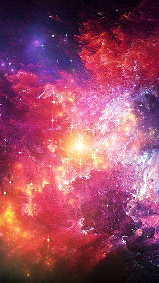 Обои на телефон сияние, туманность, облака, космос, звезды