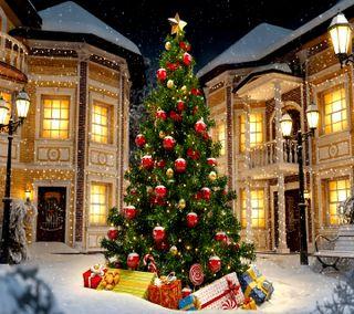 Обои на телефон счастливое, рождество, --------------------