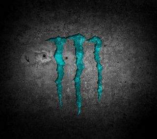 Обои на телефон синие, логотипы, monster