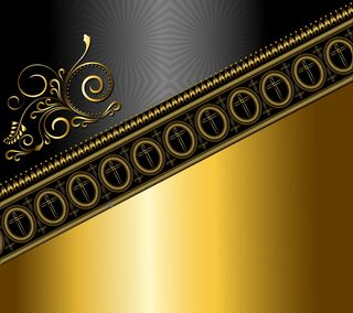 Обои на телефон цветочные, шаблон, черные, фон, золотые, дизайн, абстрактные