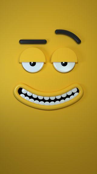 Обои на телефон смайлы, юмор, рот, рисунки, персонажи, мультфильмы, лицо, зубы, забавные, желтые, глаза, funny character