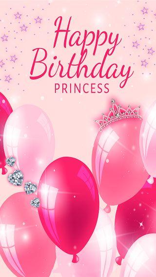 Обои на телефон позитивные, счастливые, розовые, радость, принцесса, приветствия, праздник, мяч, милые, корона, звезда, день рождения, happy birthday princess, greetings princess, greeting, congratulations