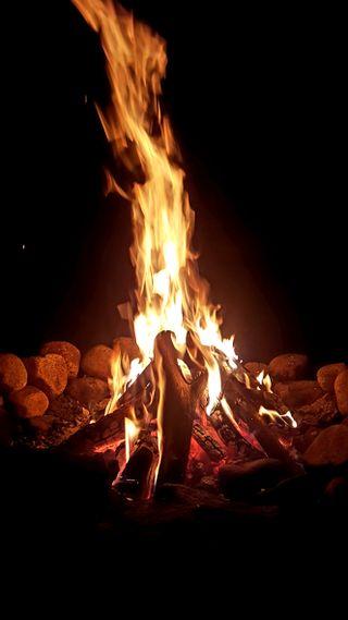 Обои на телефон поход, огонь, калифорния, good ol campfire