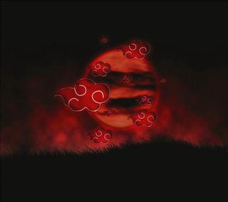 Обои на телефон акацуки, луна, красые, akatsuki red