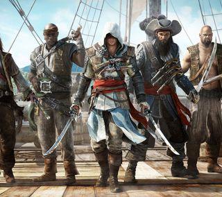 Обои на телефон пираты, черные, флаг, крид, ассасин, assassins creed 4