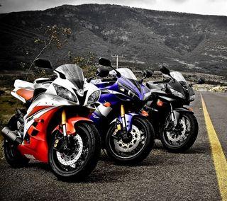 Обои на телефон ямаха, спортивные, скорость, развлечения, последние, мотоцикл, машины, гоночные, быстрее, байк, 3 yamaha bikes