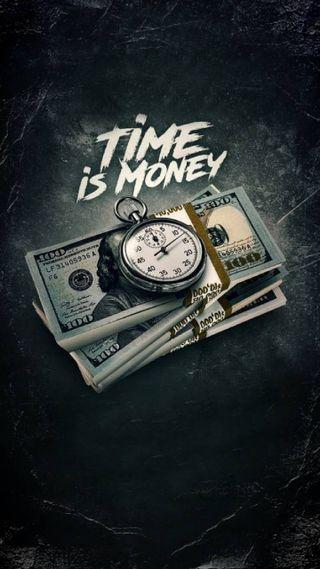 Обои на телефон деньги, время, time is money