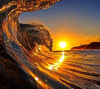 Обои на телефон удивительные, солнце, океан, лучшие, закат, tides