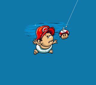 Обои на телефон нирвана, нинтендо, мотивация, марио, малыш, вода, nintendo, nevermind mario, nevermind, baby mario
