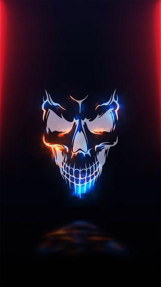 Обои на телефон популярные, череп, топ, темные, скелет, приятные, премиум, прекрасные, неоновые, лучшие, крутые, красые, видео, video wallpapers, hall of fame, hall, Skull, Fant_asy, 2020, .neon