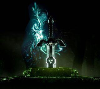 Обои на телефон link, меч, зельда