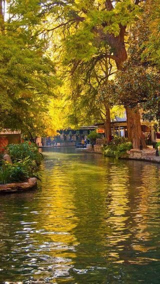 Обои на телефон сан, прогулка, река, san antonio, river walk