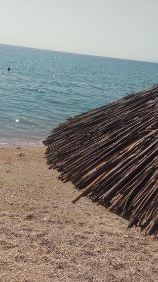 Обои на телефон рай, пляж, песок, облака, море, лето, summer paradise, sand and sea