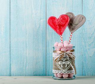 Обои на телефон конфеты, сердце, любовь, pair, love, candy hearts