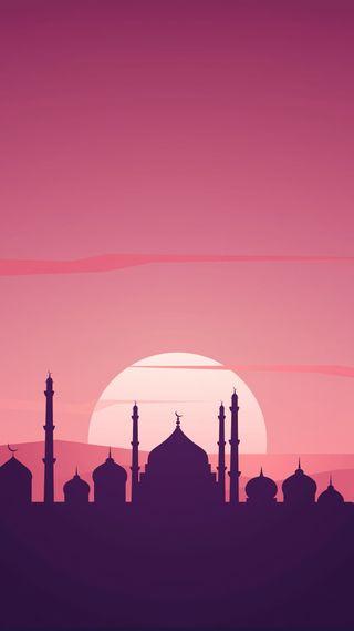 Обои на телефон мечеть, исламские, закат, hd