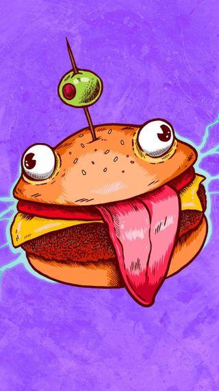 Обои на телефон фортнайт, рояль, картина, fortnite, burger royale