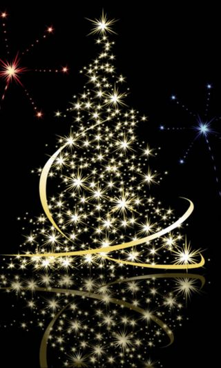 Обои на телефон счастливое, рождество, золотые, дерево, y christmas, merry christmas tree