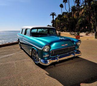 Обои на телефон chevrolet, синие, океан, америка, шевроле
