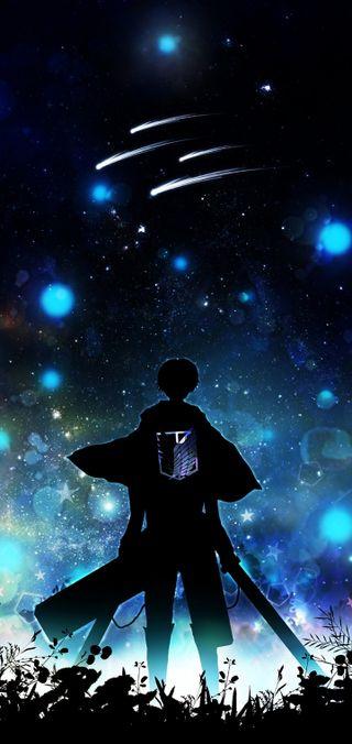 Обои на телефон эрен, крылья, темные, свобода, ночь, леви, звезды, аниме, wings of freedom, survey corp, scout